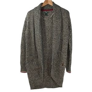 Roots Canada Cabin Open Cardigan Waterfall Cocoon Sweater Small Knit